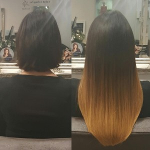 balayage effect hair extensions